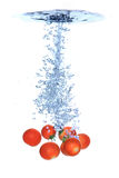 Cherry tomatoes splash royalty free illustration