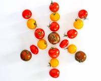 Cherry tomatoes star shape stock photos