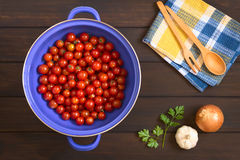 Cherry Tomatoes in Strainer Royalty Free Stock Photography