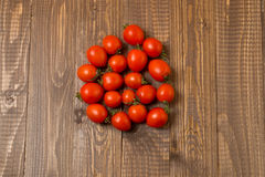Cherry tomatoes are on the table Stock Photo
