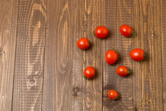 Cherry tomatoes are on the table Stock Images