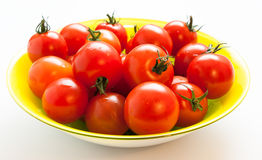 Cherry tomatoes with tails Stock Images