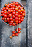 Cherry tomatoes, top view Stock Photography
