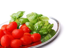 Cherry tomatoes on the tray Stock Photography
