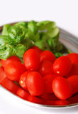 Cherry tomatoes on the tray Royalty Free Stock Photography