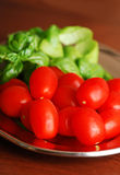 Cherry tomatoes on the tray Stock Images