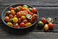 Cherry tomatoes variety Stock Photos