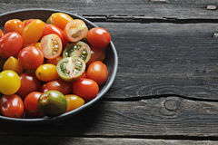 Cherry tomatoes variety Royalty Free Stock Photo
