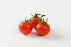 Cherry tomatoes on vine Royalty Free Stock Photography