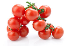 Cherry tomatoes on white background. Royalty Free Stock Photography