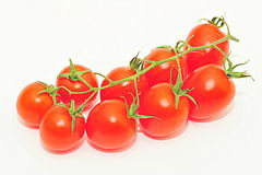 Cherry tomatoes  on white Royalty Free Stock Photo