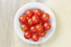Cherry tomatoes in plate Stock Image