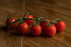 Cherry tomatoes on the table Royalty Free Stock Photography