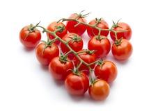Cherry tomatos. Group of cherry tomatos isolated on white background Stock Photography