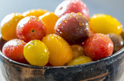 Cherry tomatos in bowl Royalty Free Stock Photography