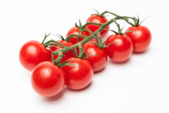 Cherry tomatos isolated on white Stock Photo