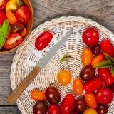 Cherry Tomatos Mixed Fotografía de archivo libre de regalías