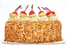 Cherry on top of ice cream cake Stock Photography
