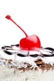 Cherry topping Stock Photography