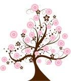 Cherry tree. Beautiful cherry tree illustration background Stock Images