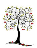 Cherry tree. Illustrated abstract cherry tree on white background Royalty Free Stock Photography