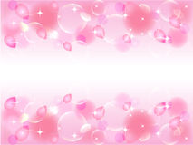 Cherry tree. Background illustration of cherry and bubble Royalty Free Stock Photos