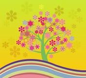 Cherry Tree Abstract Illustrations sbocciante Immagine Stock