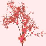Cherry Tree Art Royalty Free Stock Images