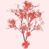 Cherry Tree Art Stock Photos