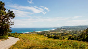 Cherry Tree Hill, a popular historic avenue in the North Eastern part of Barbados, Stock Image