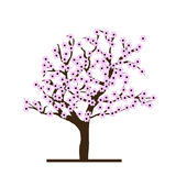 Cherry Tree stilizzato Fotografia Stock