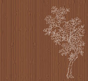 Cherry tree on wood Royalty Free Stock Photography