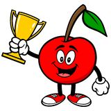Cherry with Trophy Royalty Free Stock Images