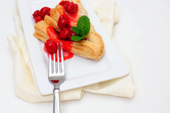Cherry Turnover And Mint Stock Image
