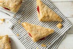 Cherry Turnover Pastries caseiro imagem de stock
