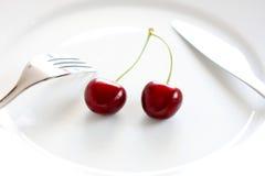 Cherry två Arkivbild
