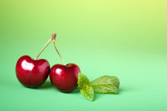 Cherry twins Royalty Free Stock Photo