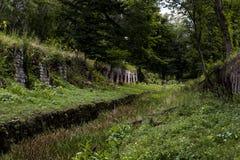 Cherry Valley Coke Ovens - Leetonia abandonados, Ohio imagens de stock