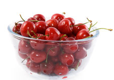Cherry in vase Royalty Free Stock Photo