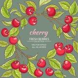 Cherry vector frame Stock Photography