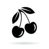 Cherry vector icon vector illustration