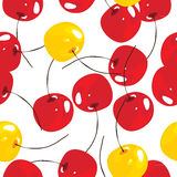 Cherry, vector seamless pattern background Royalty Free Stock Images