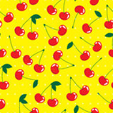 Cherry, vector seamless pattern background Royalty Free Stock Photos