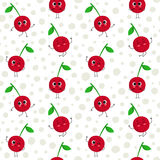 Cherry, vector seamless pattern Stock Images