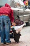 Cherry vendor on the street in Cuenca Ecuador Stock Photos