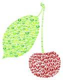 Cherry Vitamins Concept Illustrazione Vettoriale