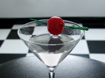 Cherry vodka royalty free stock images