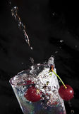 Cherry in water. Stock Photography