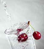 Cherry in water. Stock Photo