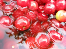 Cherry water. Reflected sky in cherry's water royalty free illustration
